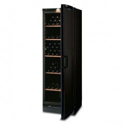 Vitrina de vinuri Tecfrigo CVKS 680 Black, 106 sticle, 1 zona temperatura,2 usi, negru