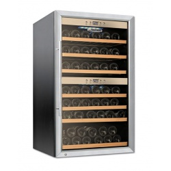 Vitrina de vinuri Tecfrigo Sommelier 43, 40 sticle, 2 zone temperatura, negru / inox