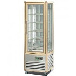 Vitrina frigorifica de cofetarie Tecfrigo Snelle 350 BTV BIS, capacitate 350 l, temperatura +5/-18°C, argintiu/auriu