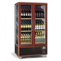 Vitrina de vinuri Tecfrigo ENOTEC 680 3TV,capacitate 680 l, temperatura +5/+9/+18°C, maro