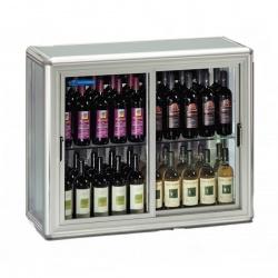 Vitrina de vinuri Tecfrigo SNELLE WINE 200 SG,capacitate 200 l, temperatura +4 +10°C/+5 +16°C, argintiu