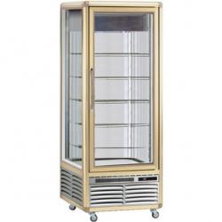 Vitrina frigorifica de cofetarie Tecfrigo Snelle 550 BTV, capacitate 550 l, temperatura -10/-21°C, auriu/argintiu