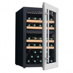 Vitrina vinuri Tecfrigo Sommelier 40 Plus, capacitate 111 l, 2 zone temperatura +12+20 /+5/+12 , negru