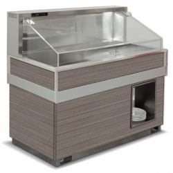 Vitrina frigorifica rece FUTURA BAHIA 4, temperatura -2/0C, lemn pin