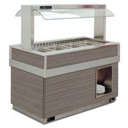 Vitrina frigorifica calda FUTURA 4 BM, temperatura + 30 / + 90C, lemn pin