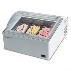 Vitrina frigorifica expunere ingrediente Tecfrigo Ice Point 3, pentru inghetata, 39 l, temperatura -10/-25 °C, alb