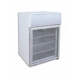 Mini vitrina frigorifica Tecfrigo PUNTOGEL 90 Spot, cu caseta luminoasa, capacitate 116 L, temperatura -18º C, alb