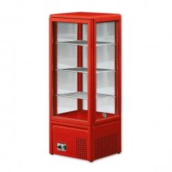 Vitrina frigorifica Tecfrigo MICRON III, capacitate 120 L, temperatura +4/+10º C, rosu