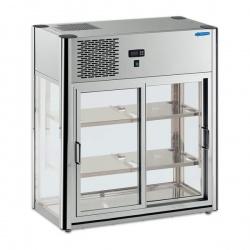 Vitrina frigorifica expunere Tecfrigo LINUS 150, capacitate 160 l, temperatura +4/+10º C, argintiu