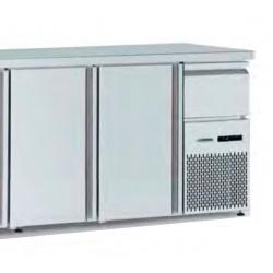 Masa rece catering Tecfrigo BBX 2V TOP, capacitate 340 l, temperatura +4/+8, argintiu
