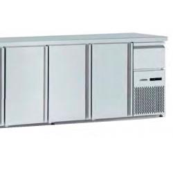Masa rece catering Tecfrigo BBX 3V TOP, capacitate 540 l, temperatura +4/+8, argintiu