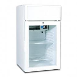 Mini vitrina frigorifica Tecfrigo C 55 GC, cu caseta luminoasa, lacat, capacitate 55 L, temperatura +1/+10º C, alb