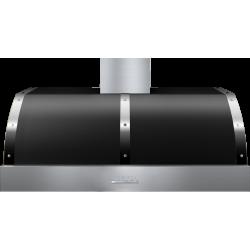 Hota perete Superiore HD48PBTNC DECO 48 ,1 motor, 900 m3/h, cotrol electronic negru mat cu finisaje crom