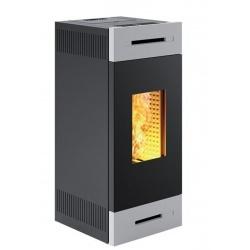 Sobă Caminetti Montegrappa RONDE EVO LS9 peleți cu aer cald ventilat sistem, a. s. s. 9 kw - gri metalizat