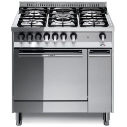Aragaz Lofra Maxima MT86 MF/C, 80x60 cm, gaz, 5 arzatoare, grill electric, timer, aprindere electronica, inox