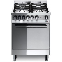 Aragaz Lofra Maxima M66GV/C, 60x60 cm, gaz, 4 arzatoare, grill electric, timer, aprindere electronica,cuptor pe gaz, inox