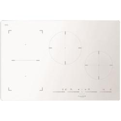 Plita incorporabila Fulgor Milano, FSH 804 ID TS WH, 80 cm, plita inductie, 4 zone gatit, booster, sticla alba