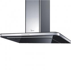 Hota design Baraldi Stivia 01STV090STB80, 90 cm, 800 m3/h, sticla neagra/inox